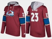 Wholesale Cheap Avalanche #23 Milan Hejduk Burgundy Name And Number Hoodie