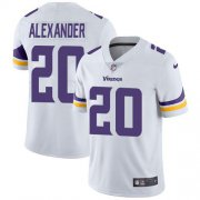 Wholesale Cheap Nike Vikings #20 Mackensie Alexander White Men's Stitched NFL Vapor Untouchable Limited Jersey