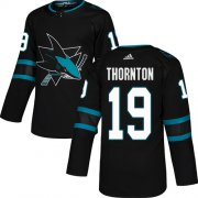 Wholesale Cheap Adidas Sharks #19 Joe Thornton Black Alternate Authentic Stitched Youth NHL Jersey
