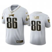 Wholesale Cheap Philadelphia Eagles #86 Zach Ertz Men's Nike White Golden Edition Vapor Limited NFL 100 Jersey