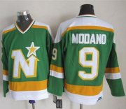 Wholesale Cheap Stars #9 Mike Modano Stitched Green CCM Throwback NHL Jersey