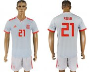 Wholesale Cheap Spain #21 Silva Away Soccer Country Jersey