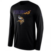 Wholesale Cheap Men's Minnesota Vikings Nike Black Legend Staff Practice Long Sleeves Performance T-Shirt
