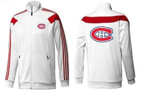 Wholesale Cheap NHL Montreal Canadiens Zip Jackets White-2