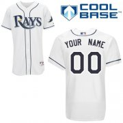 Wholesale Cheap Rays Customized Authentic White Cool Base MLB Jersey (S-3XL)