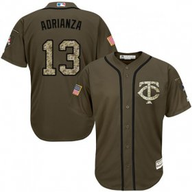 Wholesale Cheap Twins #13 Ehire Adrianza Green Salute to Service Stitched Youth MLB Jersey