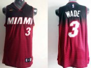 Wholesale Cheap Miami Heat #3 Dwyane Wade Black/Red Resonate Fashion Jersey