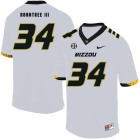 Wholesale Cheap Missouri Tigers 34 Larry Rountree III White Nike College Football Jersey