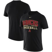 Wholesale Cheap Arizona Diamondbacks Nike Practice Performance T-Shirt Black