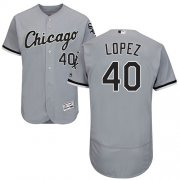 Wholesale Cheap White Sox #40 Reynaldo Lopez Grey Flexbase Authentic Collection Stitched MLB Jersey