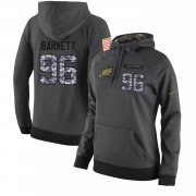 Wholesale Cheap NFL Women's Nike Philadelphia Eagles #96 Derek Barnett Stitched Black Anthracite Salute to Service Player Performance Hoodie