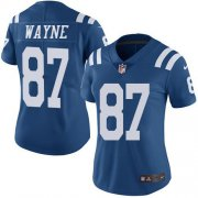 Wholesale Cheap Nike Colts #87 Reggie Wayne Royal Blue Women's Stitched NFL Limited Rush Jersey