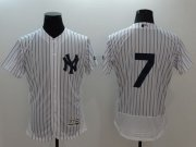 Wholesale Cheap Yankees #7 Mickey Mantle White Strip Flexbase Authentic Collection Stitched MLB Jersey