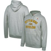 Wholesale Cheap Pittsburgh Steelers Mitchell & Ness Team History Pullover Hoodie Gray