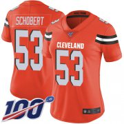 Wholesale Cheap Nike Browns #53 Joe Schobert Orange Alternate Women's Stitched NFL 100th Season Vapor Limited Jersey