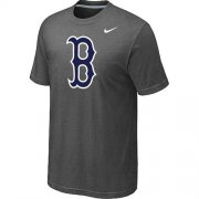 Wholesale Cheap MLB Boston Red Sox Heathered Nike Blended T-Shirt Dark Grey