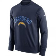Wholesale Cheap Men's Los Angeles Chargers Nike Navy Sideline Circuit Performance Sweatshirt