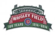 Wholesale Cheap Stitched 2014 MLB Chicago Cubs Wrigley Field's 100th Anniversary MLB Season Jersey Sleeve Patch