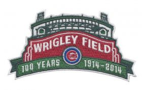 Wholesale Cheap Stitched 2014 MLB Chicago Cubs Wrigley Field\'s 100th Anniversary MLB Season Jersey Sleeve Patch