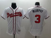 Wholesale Cheap Braves #3 Dale Murphy White Flexbase Authentic Collection Stitched MLB Jersey