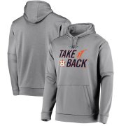 Wholesale Cheap Houston Astros Majestic 2019 World Series Bound Authentic Collection Dugout Pullover Hoodie Gray