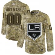Wholesale Cheap Men's Adidas Kings Personalized Camo Authentic NHL Jersey