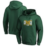 Wholesale Cheap Green Bay Packers NFL 2019 NFL Playoffs Bound Hometown Checkdown Pullover Hoodie Green