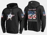Wholesale Cheap Stars #26 Jere Lehtinen NHL Banner Wave Usa Flag Black Hoodie