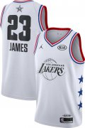 Wholesale Cheap Jordan Men's 2019 NBA All-Star Game #23 LeBron James White Dri-FIT Swingman Jersey