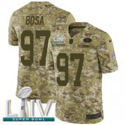 Wholesale Cheap Nike 49ers #97 Nick Bosa Camo Super Bowl LIV 2020 Men's Stitched NFL Limited 2018 Salute To Service Jersey