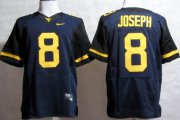 Wholesale Cheap West Virginia Mountaineers #8 Karl Joseph 2013 Navy Blue Elite Jersey