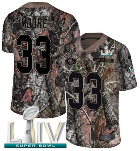Wholesale Cheap Nike 49ers #33 Tarvarius Moore Camo Super Bowl LIV 2020 Men\'s Stitched NFL Limited Rush Realtree Jersey