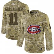Wholesale Cheap Adidas Canadiens #11 Brendan Gallagher Camo Authentic Stitched NHL Jersey