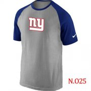 Wholesale Cheap Nike New York Giants Ash Tri Big Play Raglan NFL T-Shirt Grey/Blue