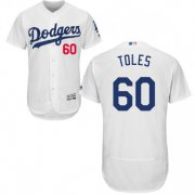 Wholesale Cheap Dodgers #60 Andrew Toles White Flexbase Authentic Collection Stitched MLB Jersey