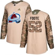 Wholesale Cheap Adidas Avalanche #52 Adam Foote Camo Authentic 2017 Veterans Day Stitched NHL Jersey