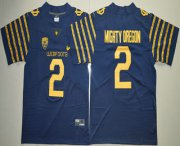 Wholesale Cheap Men's Oregon Ducks Spring Game #2 Mighty Oregon Weebfoot 100th Rose Bowl Game Navy Blue Elite Jersey