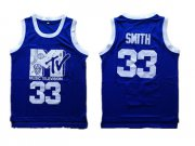 Wholesale Cheap Music Television MTV 33 Will Smith Blue Stitched Movie Jersey