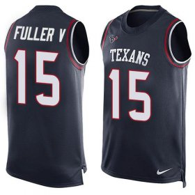 Wholesale Cheap Nike Texans #15 Will Fuller V Navy Blue Team Color Men\'s Stitched NFL Limited Tank Top Jersey