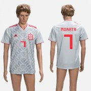 Wholesale Cheap Spain #7 Morata Grey Training Soccer Country Jersey