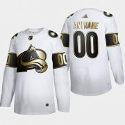 Wholesale Cheap Colorado Avalanche Custom Men's Adidas White Golden Edition Limited Stitched NHL Jersey