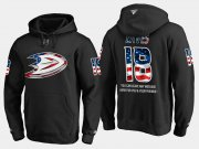 Wholesale Cheap Ducks #18 Patrick Eaves NHL Banner Wave Usa Flag Black Hoodie