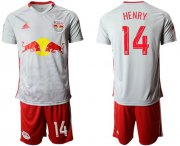 Wholesale Cheap Red Bull #14 Henry White Home Soccer Club Jersey