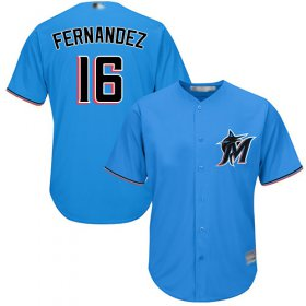 Wholesale Cheap Marlins #16 Jose Fernandez Blue Cool Base Stitched Youth MLB Jersey
