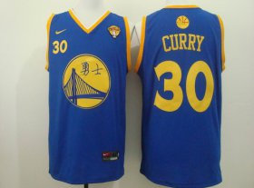 Wholesale Cheap Men\'s Golden State Warriors #30 Stephen Curry Chinese Blue Nike Authentic Jersey