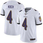Wholesale Cheap Nike Ravens #4 Sam Koch White Men's Stitched NFL Vapor Untouchable Limited Jersey