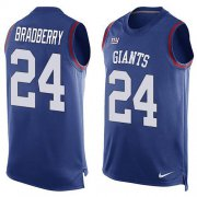 Wholesale Cheap Nike Giants #24 James Bradberry Royal Blue Team Color Men's Stitched NFL Limited Tank Top Jersey