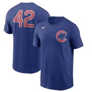 Wholesale Cheap Chicago Cubs Nike Jackie Robinson Day Team 42 T-Shirt Royal