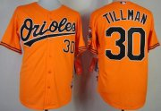 Wholesale Orioles #30 Chris Tillman Orange Cool Base Stitched Baseball Jersey