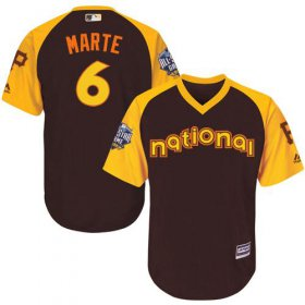 Wholesale Cheap Pirates #6 Starling Marte Brown 2016 All-Star National League Stitched Youth MLB Jersey